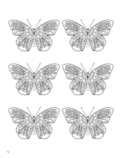 Relaxing Butterflies: Butterfly Mandala Coloring Book image 8