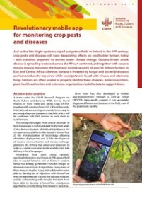 Pest and disease monitoring by using artificial intelligence