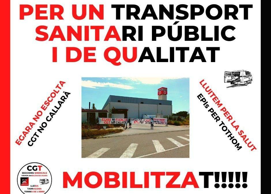 Inspecció de Treball ha donat la raó a la Secció Sindical de CGT Lleida a Ivemon Ambulàncies Egara