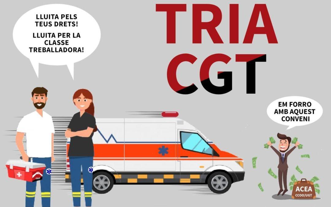 Candidatura de la CGT a les eleccions de l'empresa Ambulàncies Egara al Camp de Tarragona