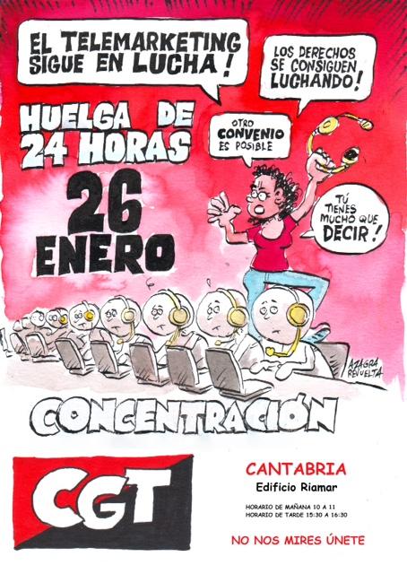 Cartel concentración Unitono Santander
