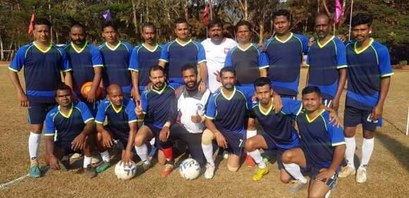 बचेली अंतर परियोजना फुटबाल स्पर्धा डोनामलाई(कर्नाटक) पर बचेली परियोजना टीम का कब्जा