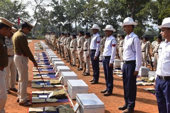 बस्तर पुलिस महानिरीक्षक सुंदरराज पी. ने किया बीजापुर जिले का वार्षिक निरीक्षण