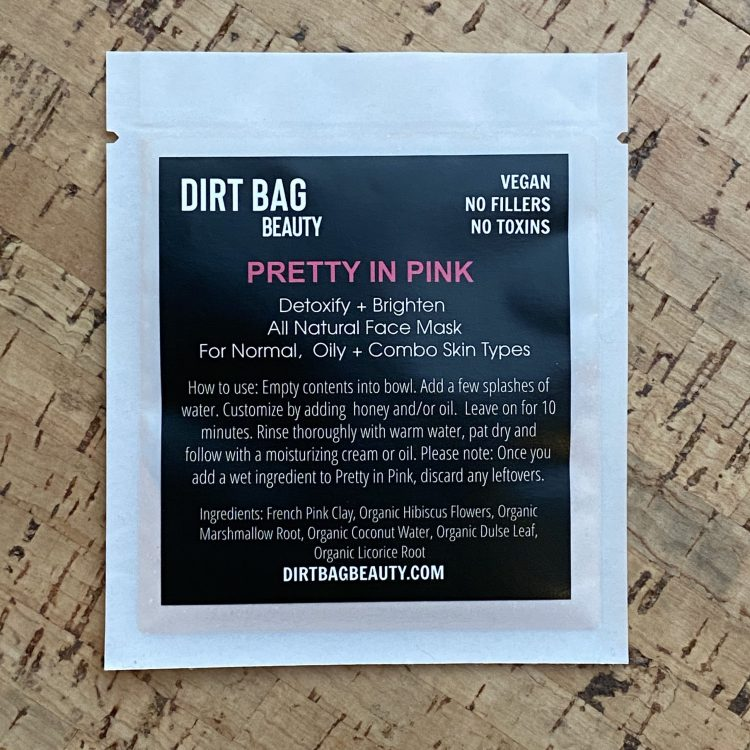 All Natural Vegan Facial Mask - Pretty in Pink (Single Use)