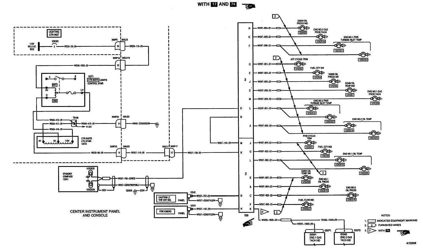 Center Flight Instrument Panel Lights Wiring Diagram