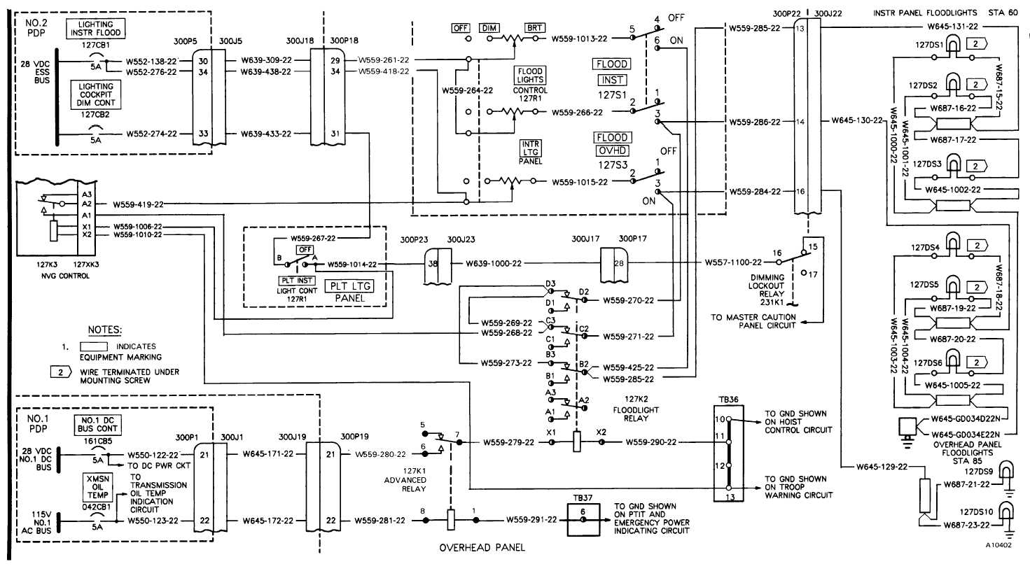 Secondary Cockpit Lights Wiring Diagram