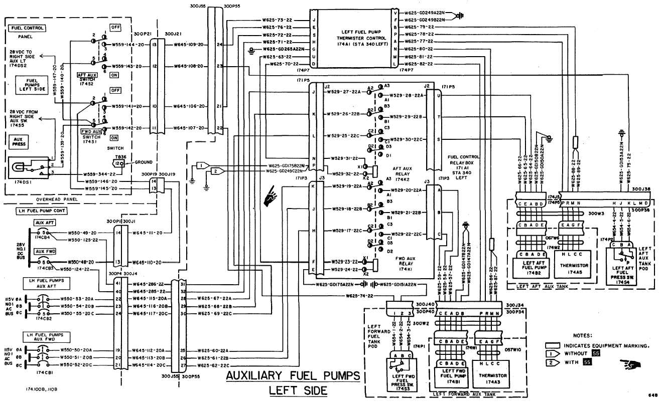 Fuel Boost Pumps Wiring Diagram Continued