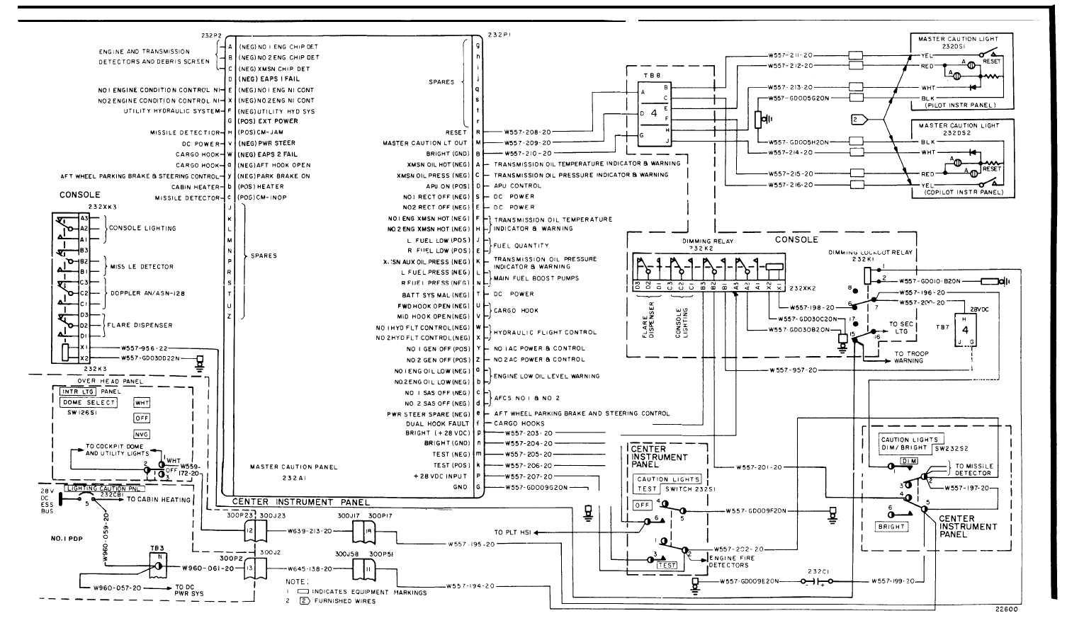 Master Caution Lights Wiring Diagram