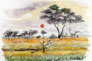 タンザニア・サヴァンナ風景©富永