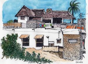 ケニア・ラム島の風景