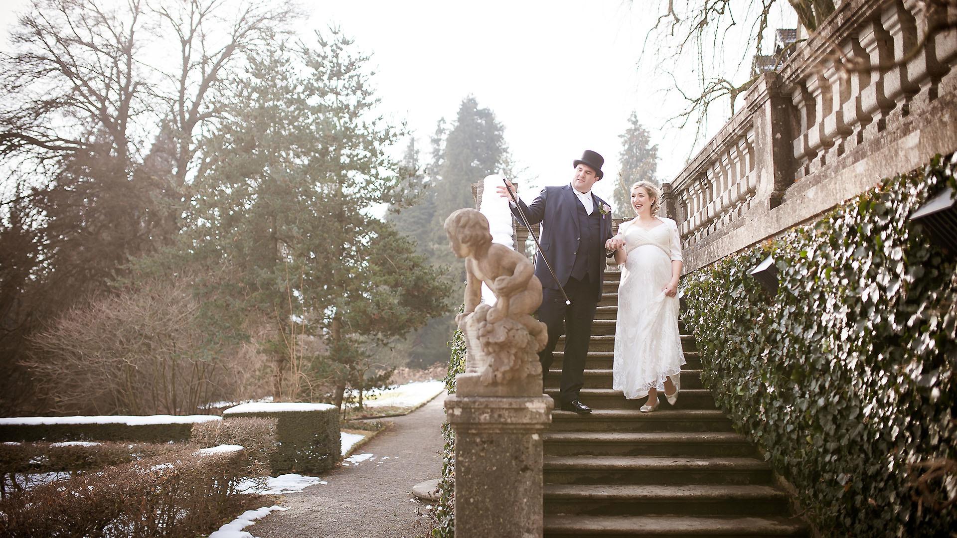Spontanes Foto vom Brautpaar