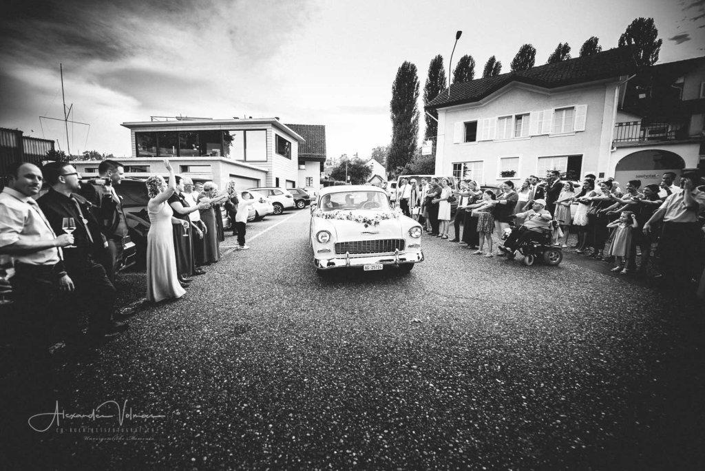 Ankunft Brautpaar Birrwil, Aargau
