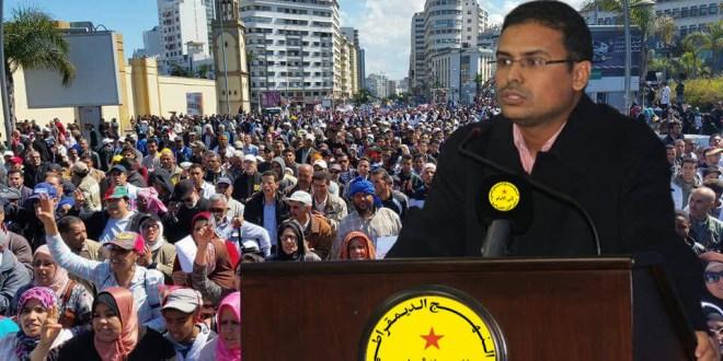 عبد اللطيف زروال الكاتب الوطني لشبيبة النهج الديمقراطي
