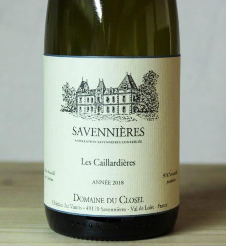 Domaine du Closel Savennières 'Caillardieres' 2018