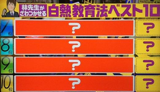 【初耳学】大反響!林先生の白熱教室ベスト10!(前編)