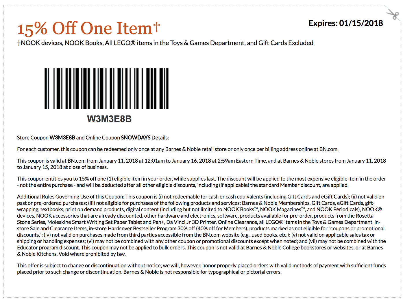 Barnes And Noble Coupons Printable And Coupon Codes