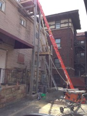 replacing an old fire escape