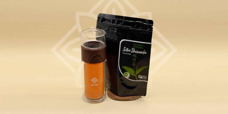 Garrafa Eva + Chá Preto Orgânico Sítio Shimada