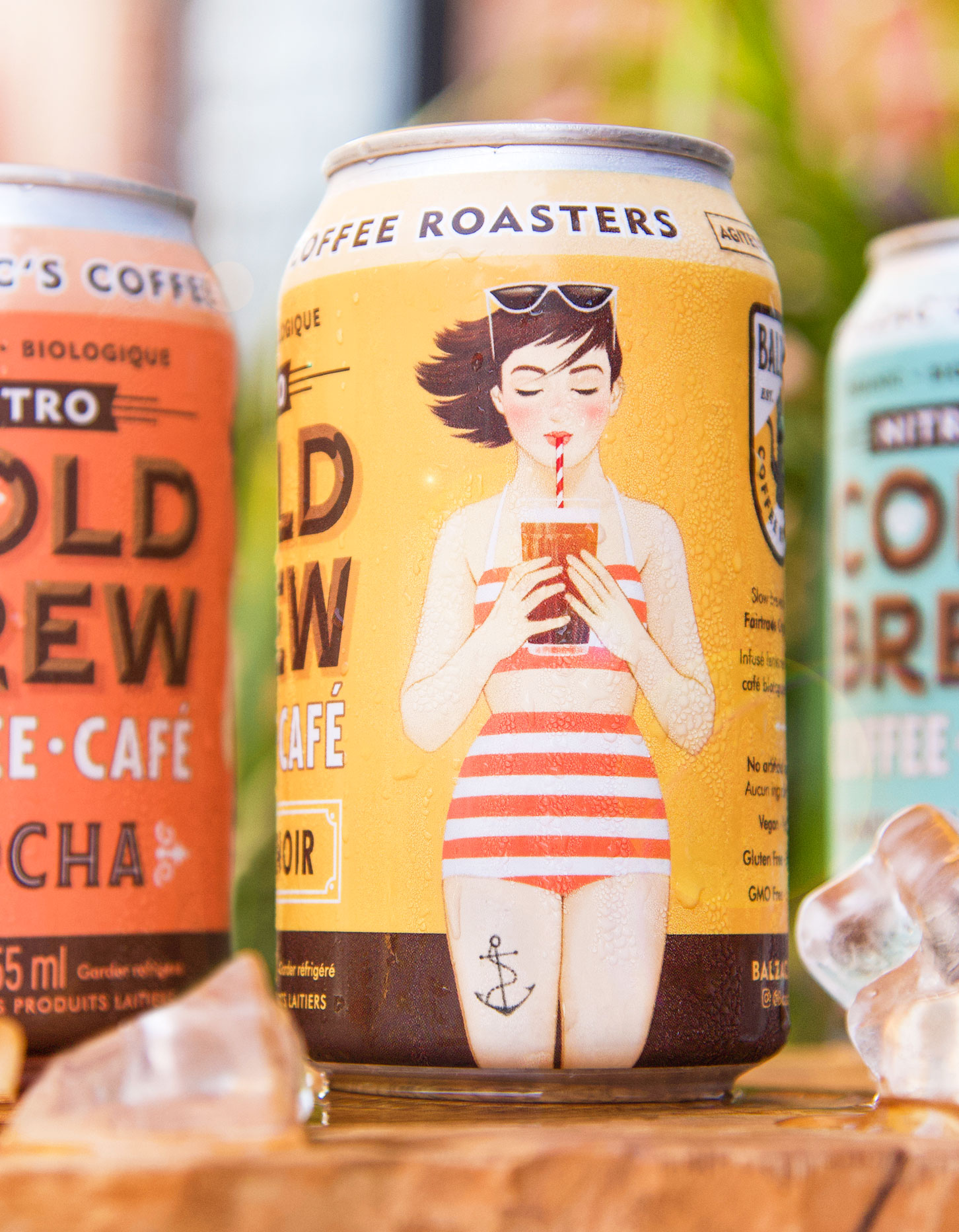 Chad Roberts Design Ltd. Balzac's Coffee Roasters Cold Brew Cans Package Design