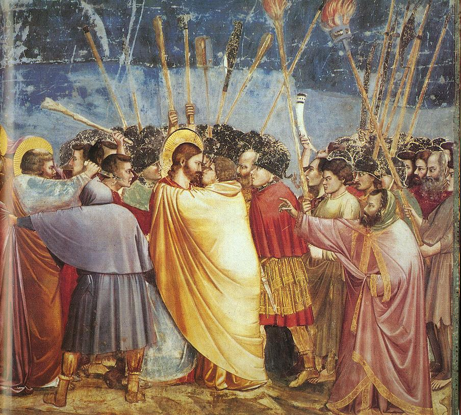 Kiss of Judas from Scrovegni Chapel - Giotto 1303-05