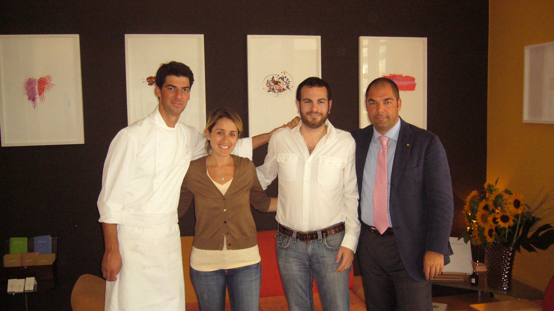 Chad & Sasha with Massimiliano and Raffaele Alajmo