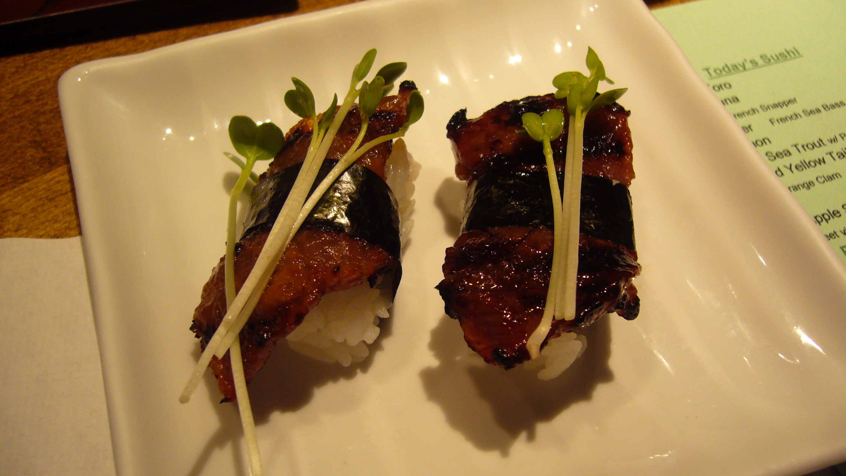 Another highlight, the Wagyu - grilled sake-kasu japanese beef - was perfectly cooked tender, and delicately seasoned sweet and salty
