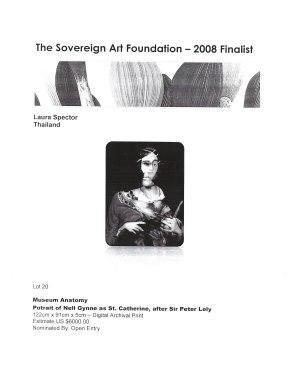 Sovereign Art Foundation - Finalist