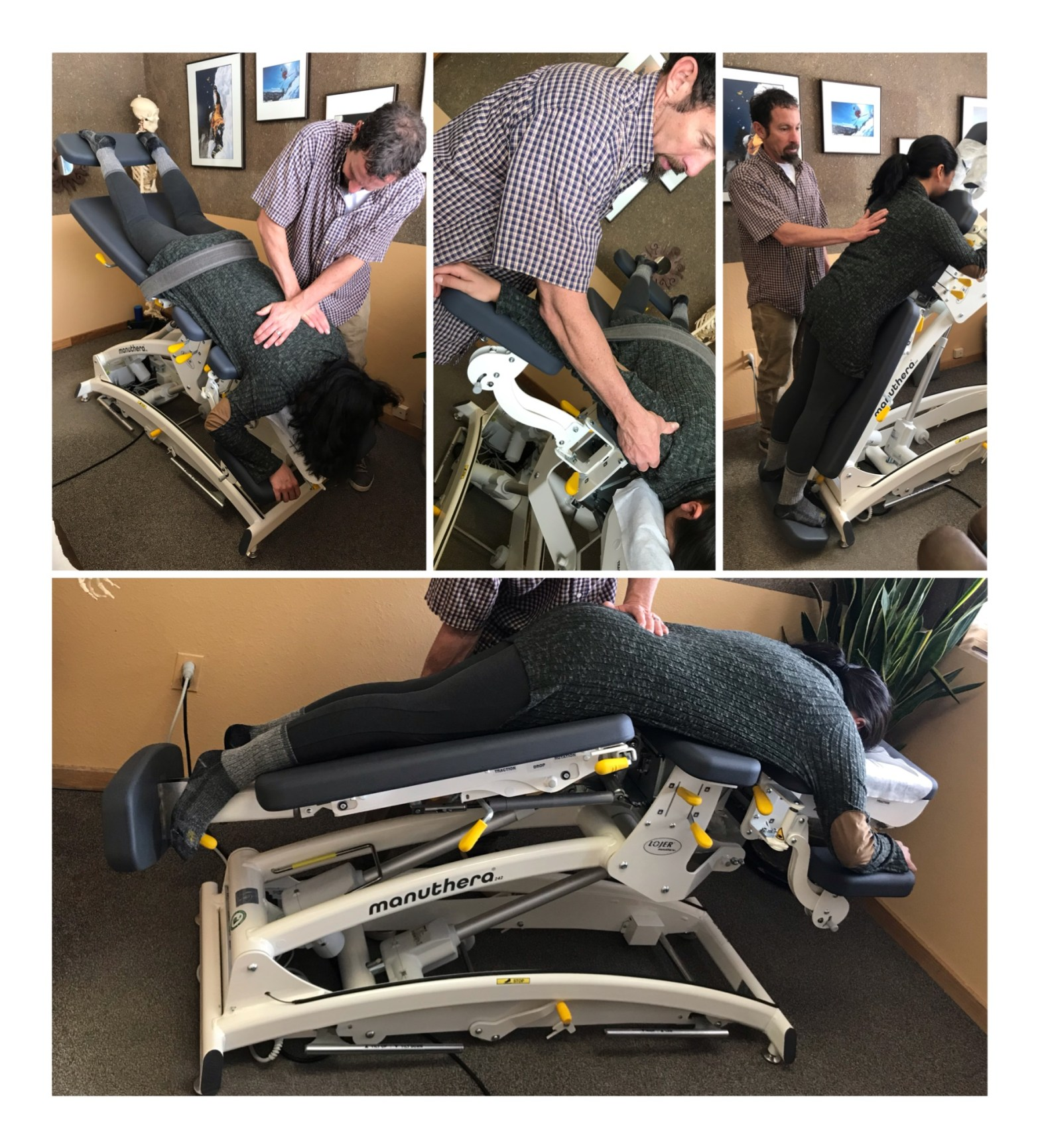 Dr. John Graham demonstrating how the Manuthera 242 Mobilisation table works