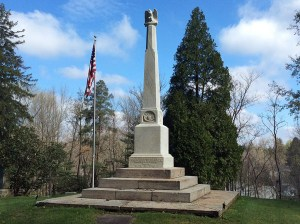 Civil War Monument in Evergreen Cemetery