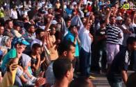 صور أولية لاحتجاجات الدار البيضاء ضد محزرة فض الاعتصامات بمصر