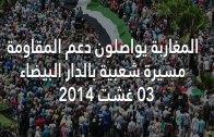 مشاهد متميزة من مسيرة الدار البضاء دعما لغزة