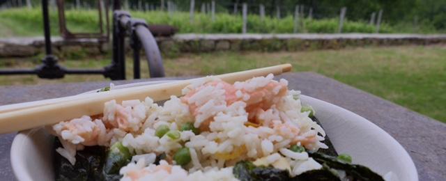 riz tiède à la truite