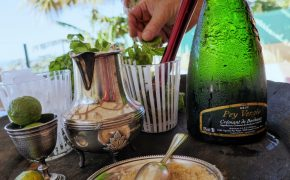 mojito +crémant de Bordeaux #chateaulacourtiade