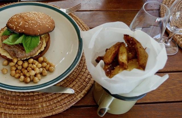 hamburger au houmous