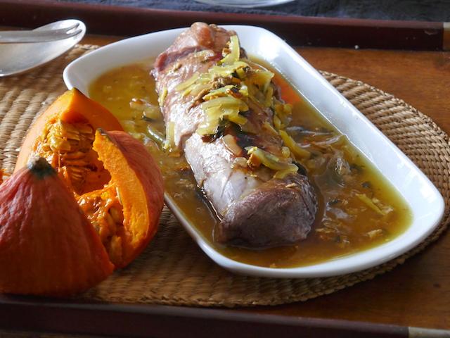 filet mignon cuisson douce et sauce gingembre et curcuma