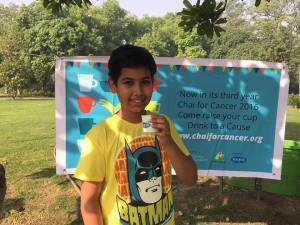 Our first doner, sixth grader Devraj Singh: confident, knowledgeable and positive
