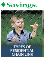type of residential chain link fence