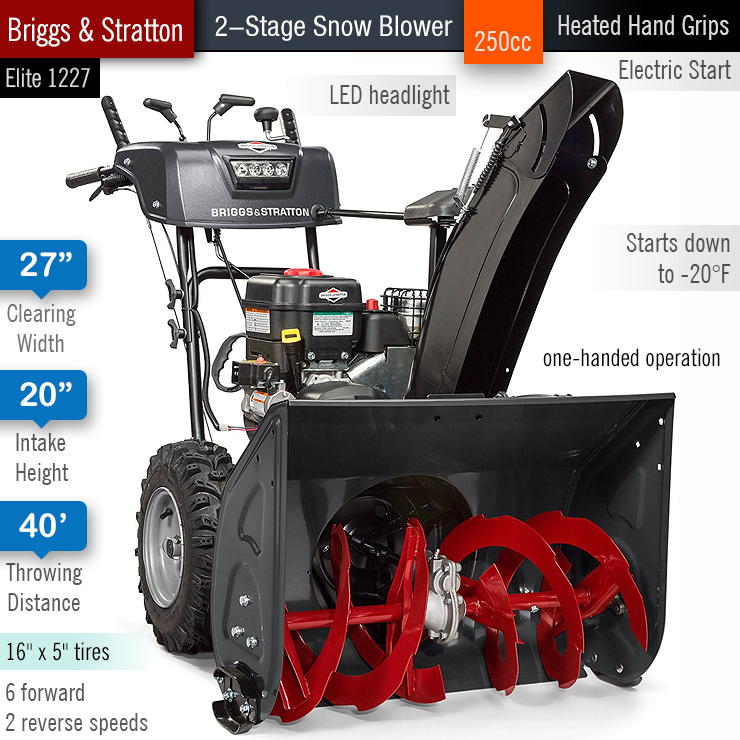 Winter 2019 20 Best Two Stage Snow Blowers Reviews