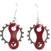 Link N Gear Bicycle Chain Earrings Cycling Jewelry