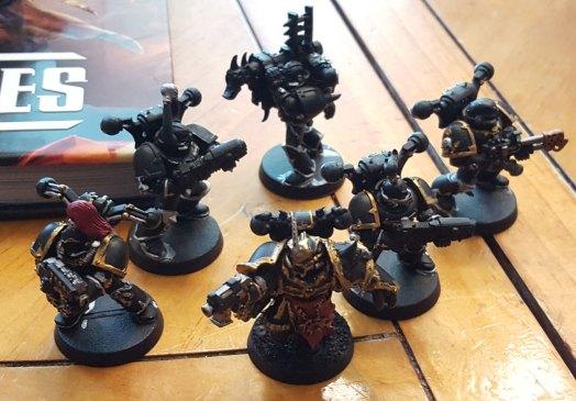 Black Legion squad, base colors