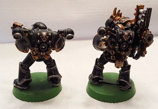 Black Legion, flamer and missile launcher marines, rear