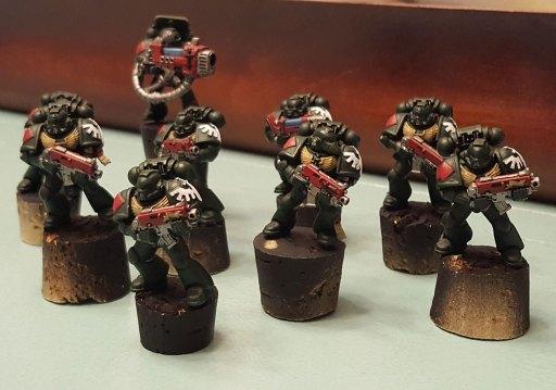 Dark Angels, first squad, base-coated