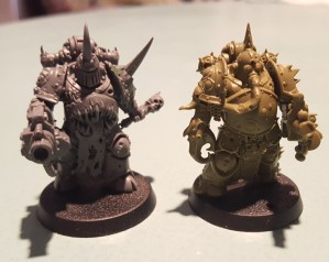 Plague Marines, blight launchers, front