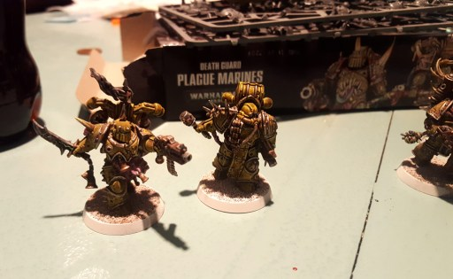 Plague Marines with highlights, so far