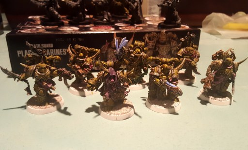 Plague Marines squad, highlights done