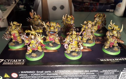 Plague Marines, second squad, completed