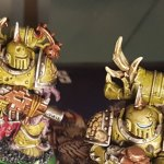 Plague Marines, second squad, detail on antlers