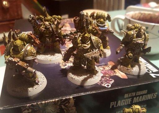 Plague Marines, second squad, closer look