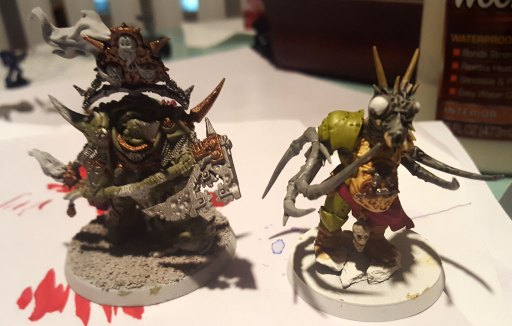 Lord of Contagion and Nurgle Chaos Spawn - midway through