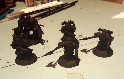 Black Legion models, primed